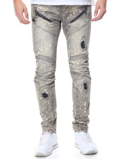 Men - Thistle Grey Moto Jean