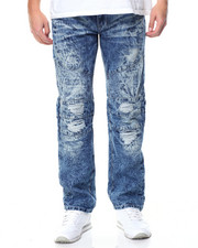 Men - Rip & Repair Ice Wash Moto Jean