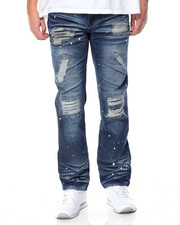 Men - Rip & Repair Paint Splatter Distressed Jean