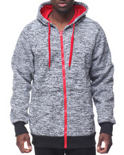 Buyers Picks - Marled Fleece Contrast Zip Hoodie