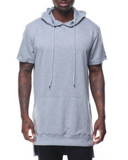 Buyers Picks - S/S Elongated Hoodie w Side Zipper