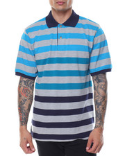 Men - Striped Pique S/S Polo