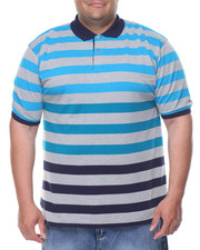 Basic Essentials - Striped Pique S/S Polo (B&T)