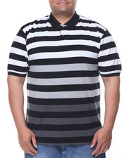 Shirts - Striped Pique S/S Polo (B&T)