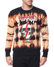 Buyers Picks - Hip Hop Skull Bleached Crewneck Sweatshirt