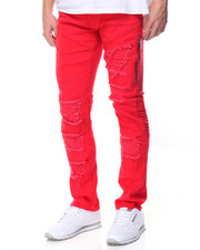 Jeans & Pants - Twill Zipper Biker Pants