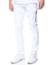 Men - Twill Zipper Biker Pants