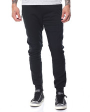 Basic Essentials - Moto - Style Tech Fleece Joggers
