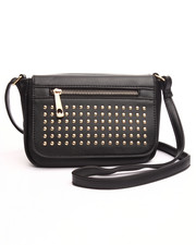Women - Studded Zip Trim Crossbody Bag