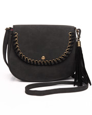 Women - Faux Suede Crossbody Bag