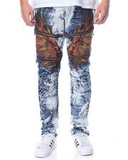 Men - Hawk - Applique Washed Denim Jeans
