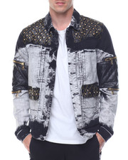 Men - Quilted - Shoulder Denim Jacket