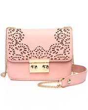 Bags - Laser Cut Chain Trim Crossbody Bag