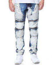 Men - Carpenter - Style Washed Denim Jeans