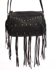 Crossbody - Fringe Galore Studded Envelope Crossbody Bag