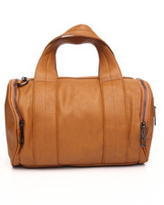 Women - Zip Trim Vegan Leather Duffel Bag