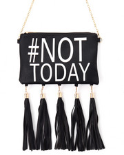 Crossbody - #Not Today Hanging Tossles Crossbody Bag