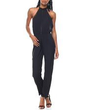 Fashion Lab - Halter Crochet Insert Jumpsuit