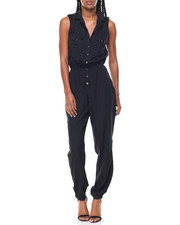 Women - Utility Sleeveless Button Down Jumpsuit
