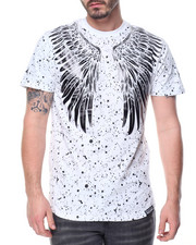 Men - Wings Foil Splatter Tee