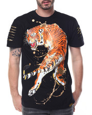 Men - Rhinestone Tiger Tee