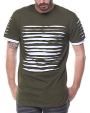 Men - Razor Slashed  Tee w Zip Detail