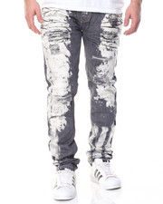 Men - Side Wash Distressed Jean