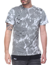 Men - Tie Dyed Paint Splatter Scallop Tee