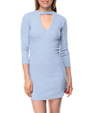 Dresses - Kennedy Dress W/V-Mock Neck