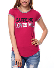 Fashion Lab - Caffeine Loves Me Ringer Tee