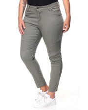 Plus Size - Twill Moto Skinny Jean (Plus)