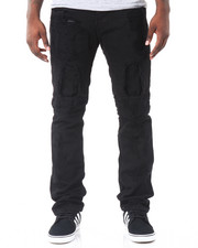 Men - Monochrome Slim - Straight Rip - And - Repair Denim Jeans