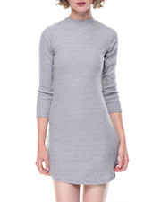 Dresses - Jackie Mock Neck 3/4 Sleeve Dress
