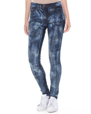 Bottoms - Marble Wash Stretch Skinny Jean