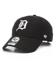 Women - Detroit Tigers Black & White MVP 47 Strapback Cap