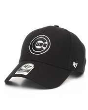 Women - Chicago Cubs Black & White MVP 47 Strapback Cap