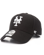 Women - New York Mets Black & White MVP 47 Strapback Cap