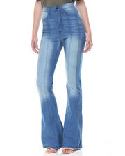 Women - Princess Seams Hi Waisted Flared Jean