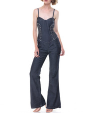 Women - Studd Detail Tube Jumpsuit