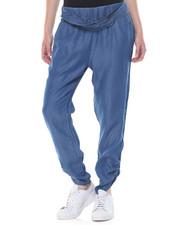 Boom Boom Jeans - Chambray Elastic Waist Selft Belt Jogger