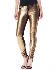 Women - Sequin Front Stretch Skinny Jean