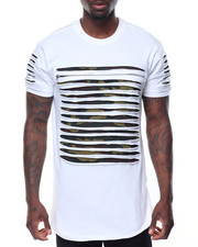 Men - Razor Slashed Tee w Zipper Detail
