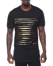 T-Shirts - Razor Slashed Tee w Zipper Detail