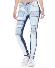 Women - Bleach Patchwork 2-Face Skinny Jean