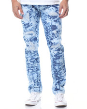 Buyers Picks - Tie - Dye Slim - Straight Rip - And- Repair Denim Jeans