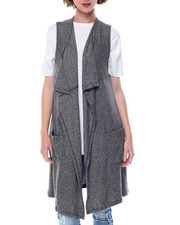 Women - Open Duster Sweater Vest