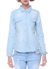 Fashion Lab - Western Long Sleeve Denim Shirt