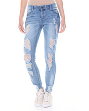 Bottoms - Tummy Toner Destructed Skinny Jean