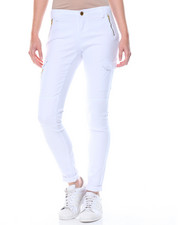 Women - Cargo Zip Trim Stretch Denim Skinny Jean