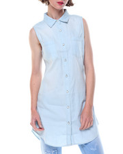 Fashion Lab - Sleeveless Denim Tunic Top